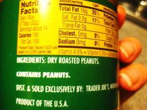 Trader Joe's Peanut Butter